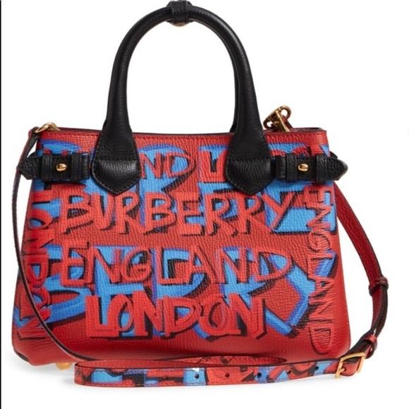 1bf9061e9e51 Burberry Handbags - Burberry small graffiti banner tote